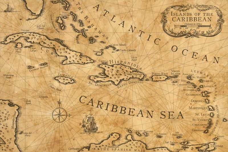 caribbean_nautical_chart_print
