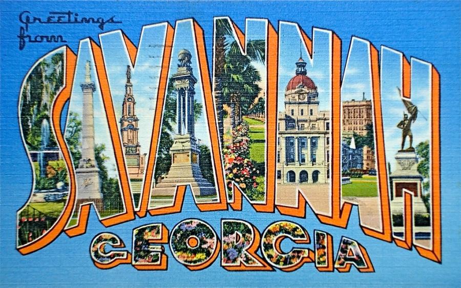 Postcard Savannah